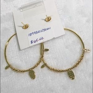 South Moon Under Jewelry - South Moon Under Dangle Hoop Earrings Hammered